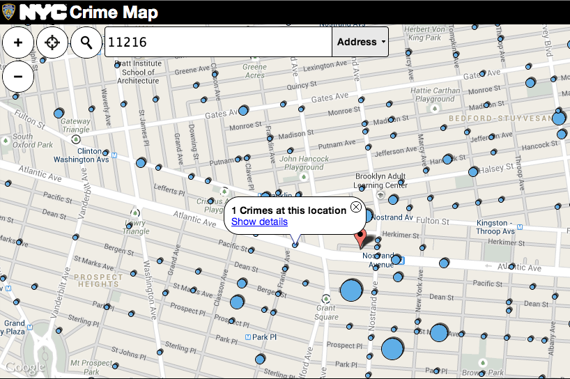 NYPD Interactive Crime Map