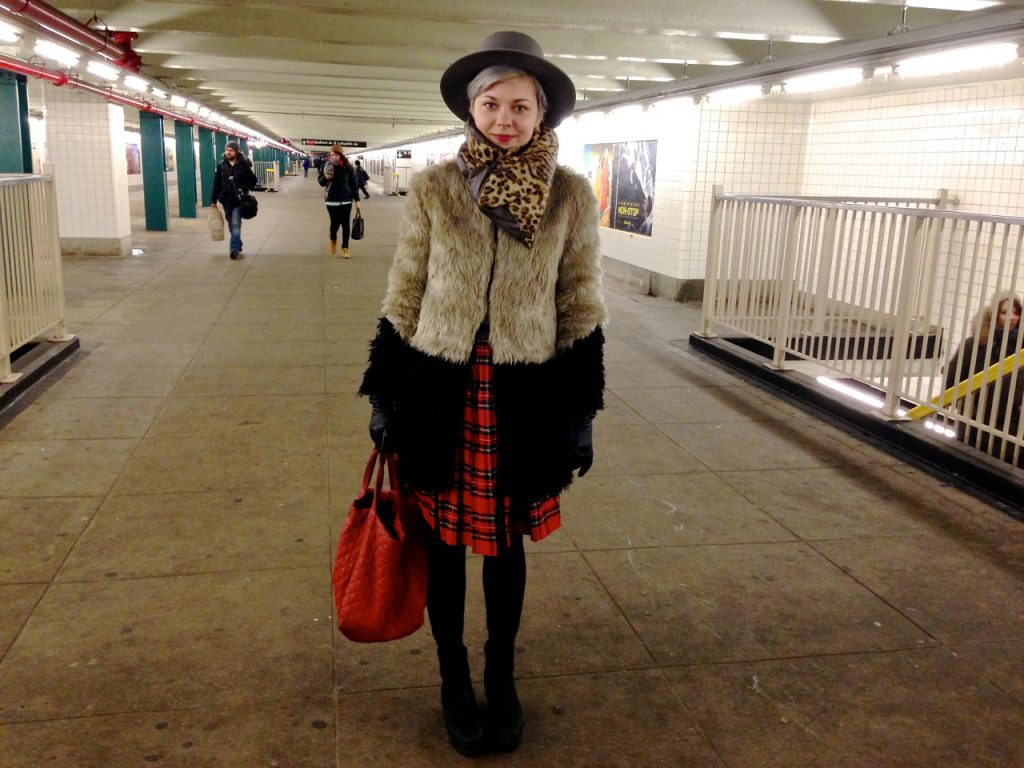 We caught Crown Heights resident Lina as she was exiting the G train at Bedford/Nostrand. Her layered style was fabulous. She said it was no special occasion-- that this was her everyday fashion M.O.!