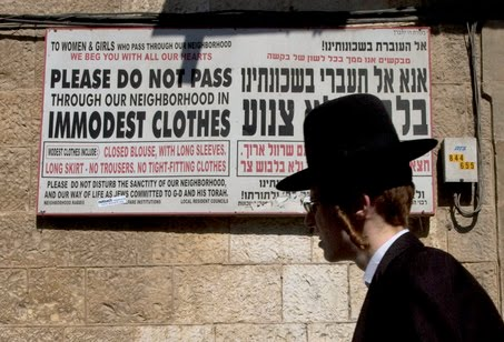 Haredim - modesty sign