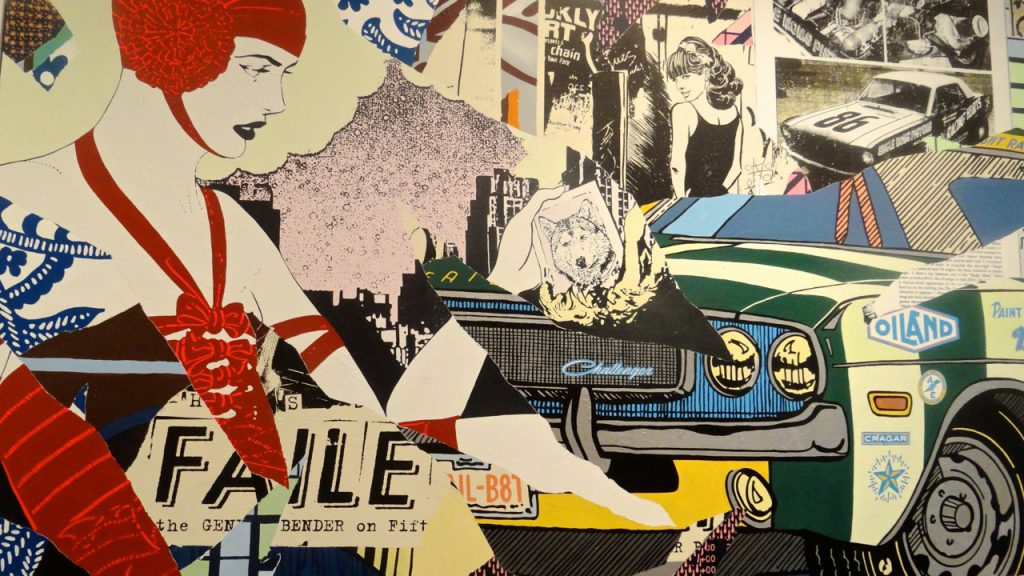 FAILE is an artistic collaboration between Brooklyn-based artists Patrick McNeil and Patrick Miller. It is art that questions society's relationship to consumer culture, religious traditions and the urban environment by blurring the boundaries between fine art, street art and popular culture