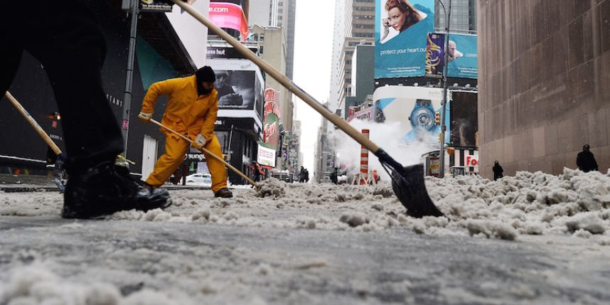 snow removal, snow laborers, temporary jobs