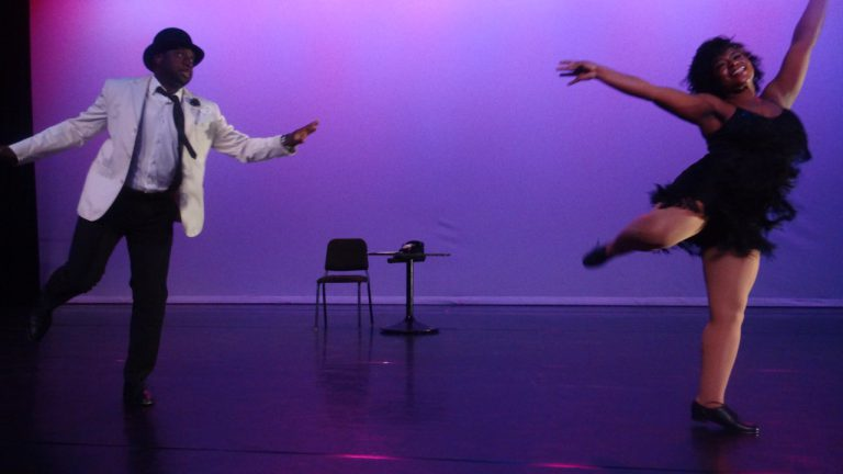 Joseph Grant, director of Arts & Culture in the office of Councilmember Robert Cornegy, danced with Nadia Joseph of the Bedford Stuyvesant Youth Arts Academy Center