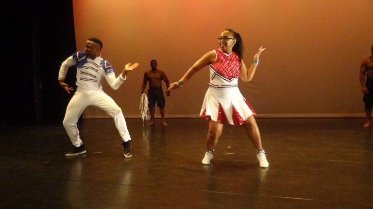 Muriel Goode-Trufant, managing attorney of the New York City Law Department, danced with Ryan Rankine of Creative Outlet Dance Theatre of Brooklyn
