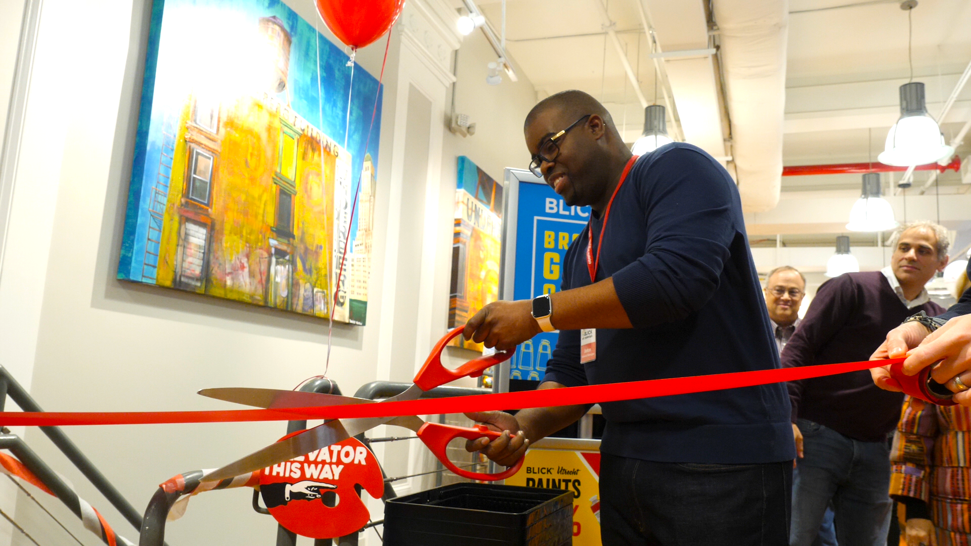 Stafon Nelson, general manager, had the honor to cut the ceremonial ribbon. Photo courtesy Blick