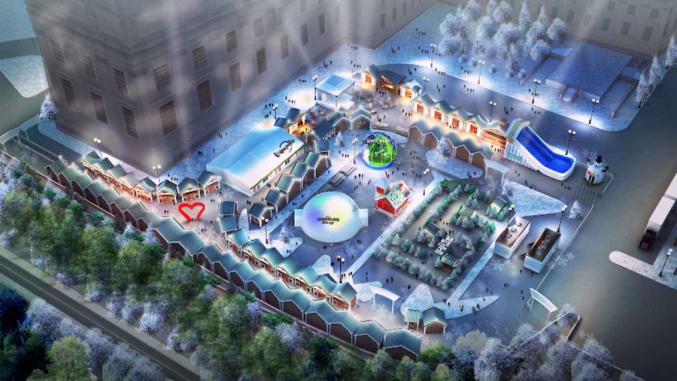 Winterfest is spreading holiday cheer with food, attractions and entertainment on the grounds of the Brooklyn Museum