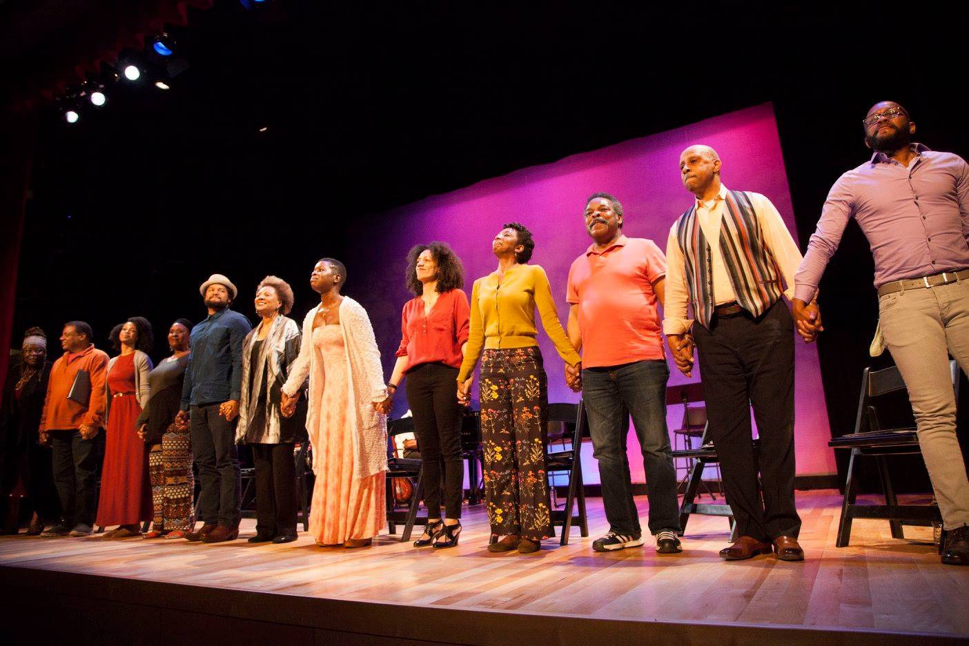 Reading of Zora Neale Hurston's Their Eyes Were Watching God, directed by Ruben Santiago-Hudson (Spring 2017). Photo Courtesy of The Billie Holiday Theatre, Photo Credit: Hollis King