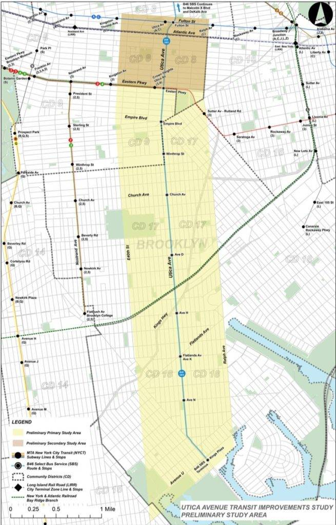The MTA and the city have launched a study to possibly revive the idea of the Utica Avenue subway extension